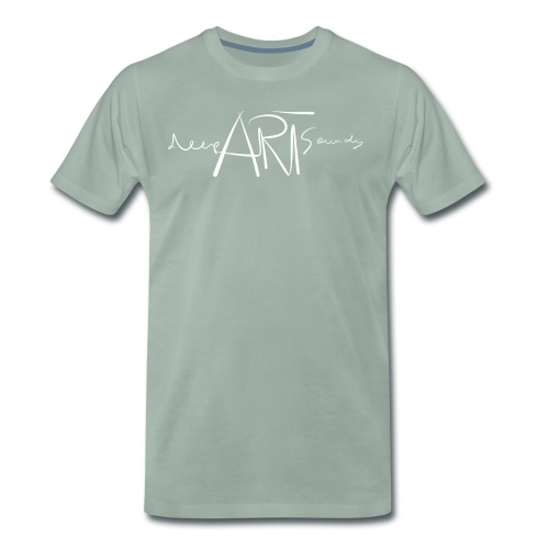 LOGO deepArtSounds Weiss Transparent gif - Men's Premium T-Shirt