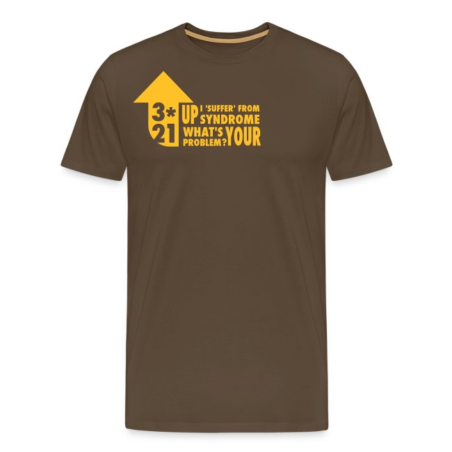 Mens T-shirt 3*21 Up Syndrome Noble Brown/Gold