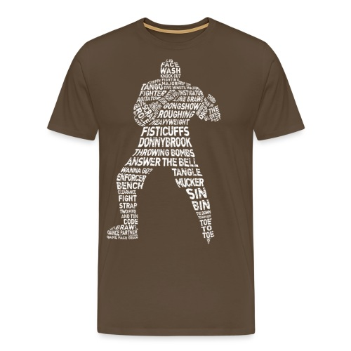 Hockey Enforcer Lingo (white print) - Men's Premium T-Shirt