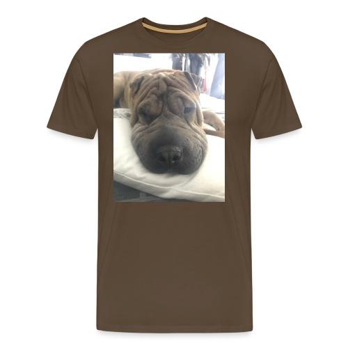 Closeup Shar-pei - Men's Premium T-Shirt