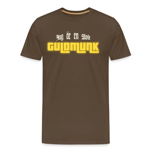 Jag är en stolt GULDMUNK - Premium-T-shirt herr
