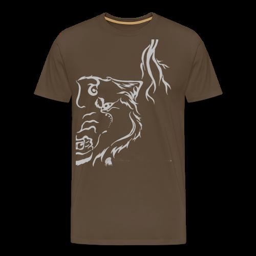 Silver Thunder Wolf Tribal - Männer Premium T-Shirt