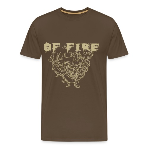 Of Fire Carnage Skull - Men's Premium T-Shirt