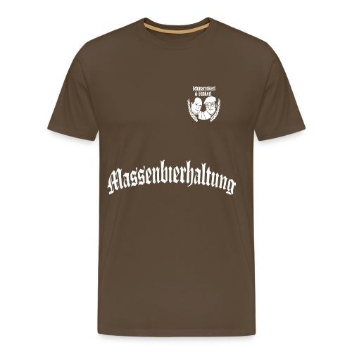 01 MASSENBIERHALTUNG weiß freigestellt png - Männer Premium T-Shirt