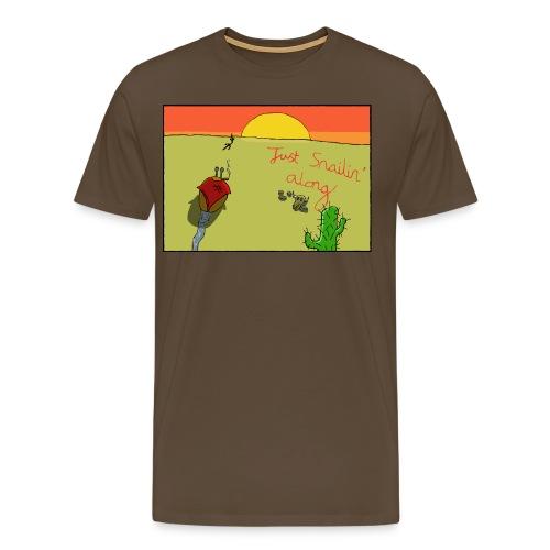 Just Snailin Along - Men's Premium T-Shirt