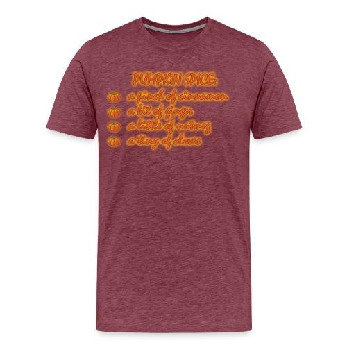 PumpkinSpiceRecipe - Maglietta Premium da uomo