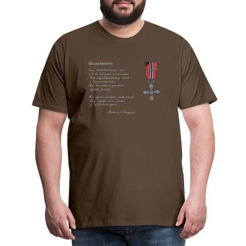 Krigshelten - Premium T-skjorte for menn