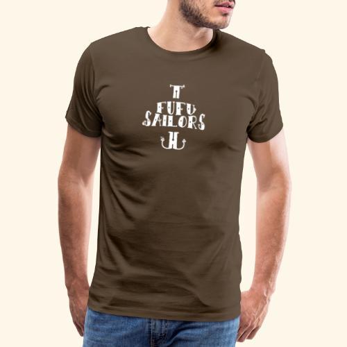 fufu anchor white - Men's Premium T-Shirt