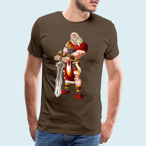 man with sword - Maglietta Premium da uomo