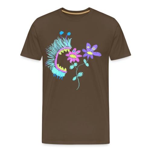 eating flowers - Mannen Premium T-shirt