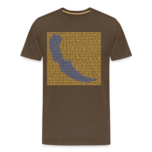 textwall knives karambit design png - Men's Premium T-Shirt