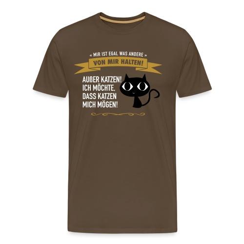 Hauptsache Katzenliebe! - Männer Premium T-Shirt
