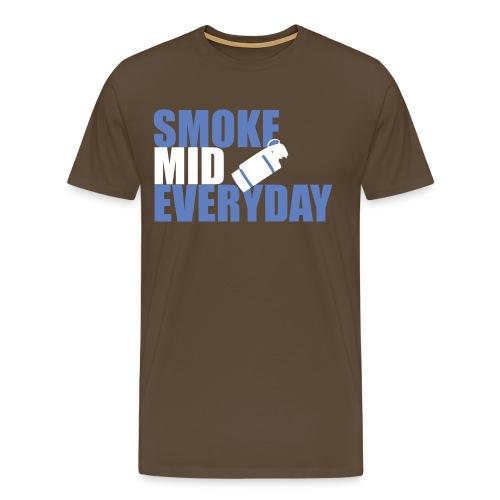 smoke mid everyday design blue png - Men's Premium T-Shirt