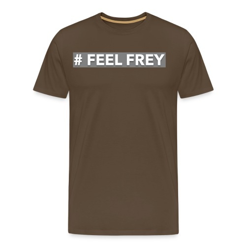 FEEL Frey LOGO grey - Männer Premium T-Shirt