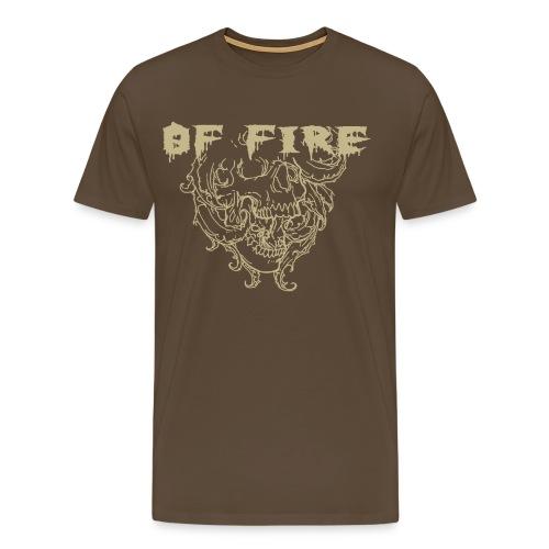 Of Fire Carnage Skull - Men's Premium T-Shirt