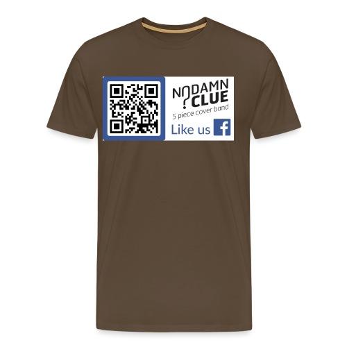 No Damn Clue QR Code - Men's Premium T-Shirt