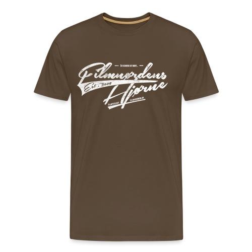 Label 8 HVID - Herre premium T-shirt
