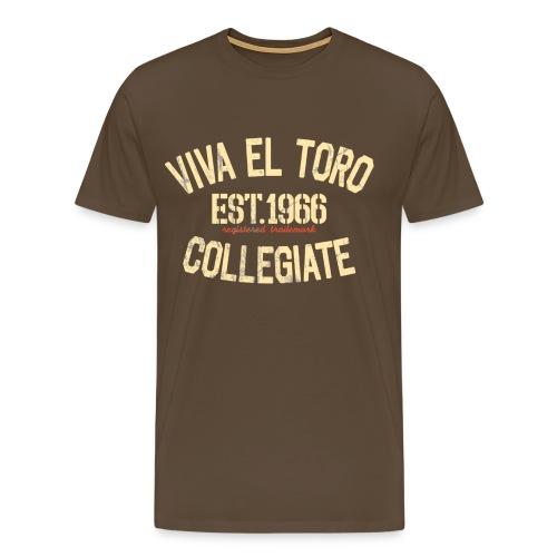 Viva El Toro! Rusty Rags Graphic T Collegiate - - Maglietta Premium da uomo