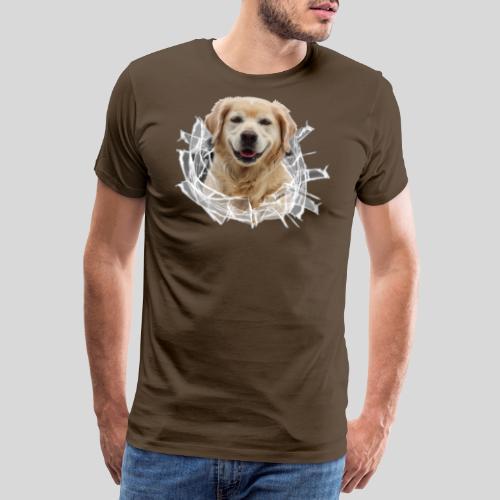 Golden im Glasloch - Männer Premium T-Shirt