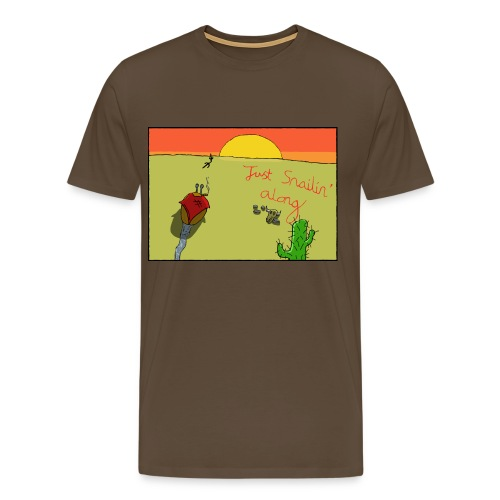 Just Snailin Along - Men's Premium T-Shirt