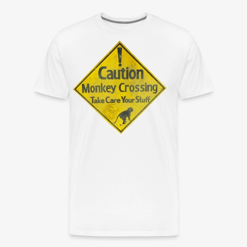 Caution Monkey Crossing - Männer Premium T-Shirt