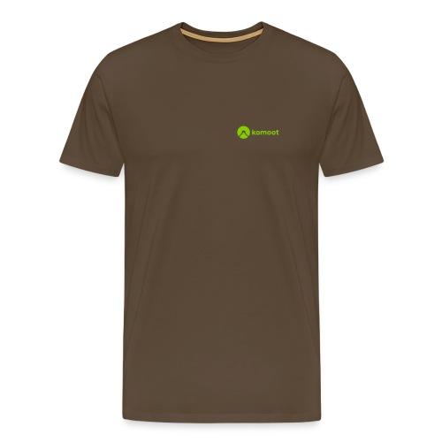 Horizontal Small White - Männer Premium T-Shirt