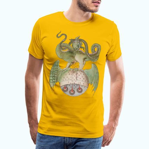 Middle Ages Dragon - Men's Premium T-Shirt