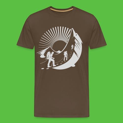 Climbing Mountain - Männer Premium T-Shirt