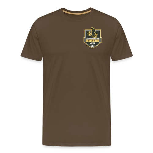 Bikers ver logo v2b png - Men's Premium T-Shirt