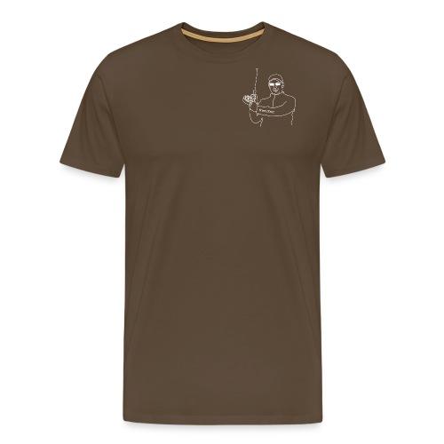 Der Fliegenfischer ohne Hintergrund - Männer Premium T-Shirt