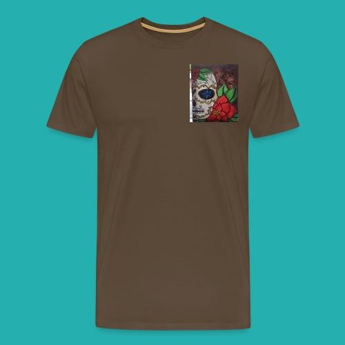 flower-skull - Men's Premium T-Shirt