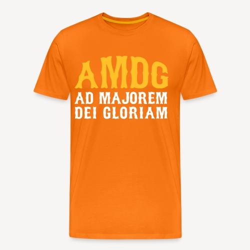 AMDG AD MAJOREM DEI GLORIAM - Men's Premium T-Shirt
