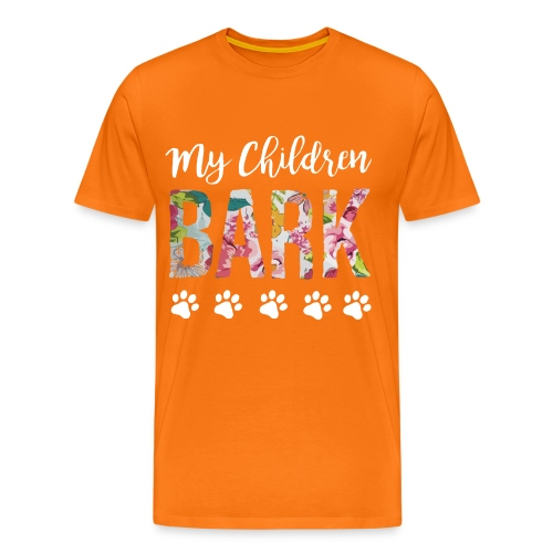My children bark dog shirt - Men's Premium T-Shirt