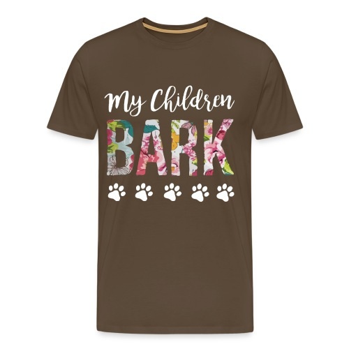 My children bark dog shirt - Men's Premium T-Shirt
