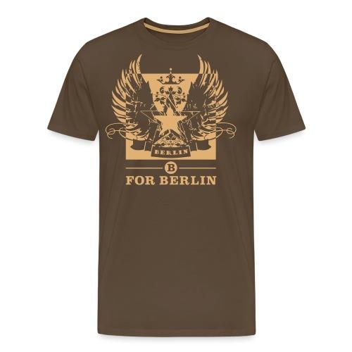 B for Berlin STAR LOGO - Männer Premium T-Shirt