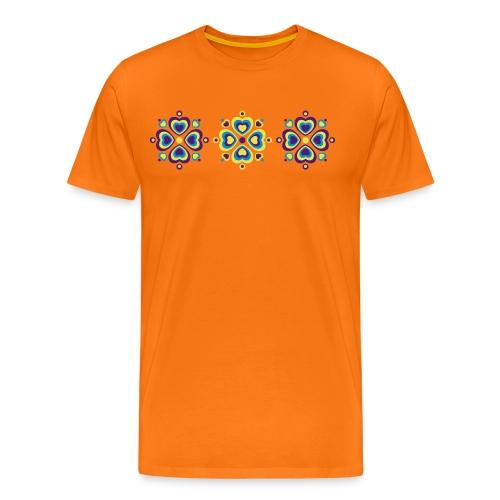Retro Herzen fröhliche Blumen Vintage Valentinstag - Men's Premium T-Shirt