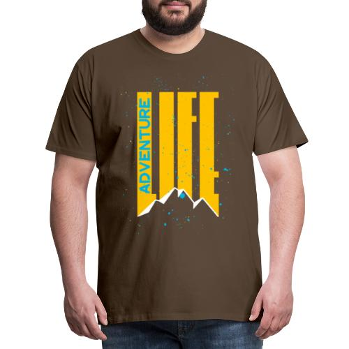 Adventure Life Wandern Klettern Mountain Outdoor - Männer Premium T-Shirt