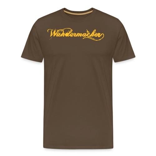 Wundermacher-Shirt Braun/Gelb - Männer Premium T-Shirt