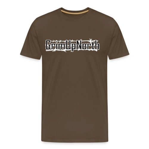 behind barbed wire - Men's Premium T-Shirt