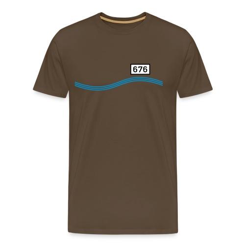 Rheinkilometer 676a - Männer Premium T-Shirt