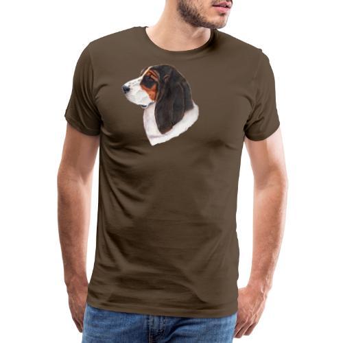 bassethound color - Herre premium T-shirt