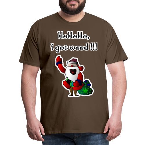 Weihnachtsmann HoHoHo, i got weed!!! Cannabis - Männer Premium T-Shirt