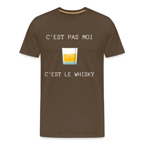 C'est pas moi, C'est le whisky - T-shirt Premium Homme