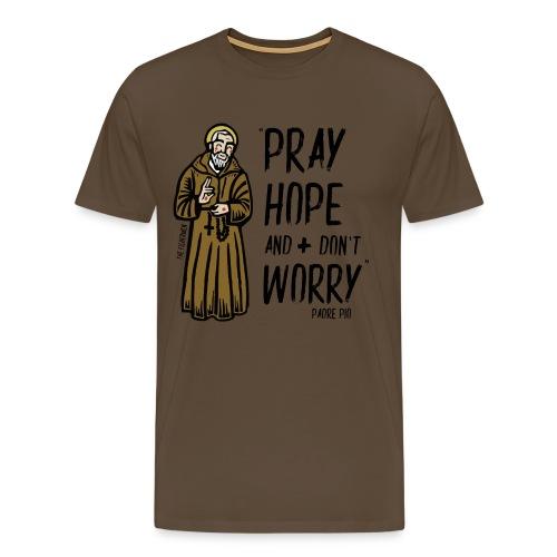 Padre Pío - Camiseta premium hombre