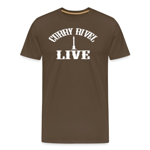 CURRY RIVEL LIVE LOGO WHITE - Men's Premium T-Shirt
