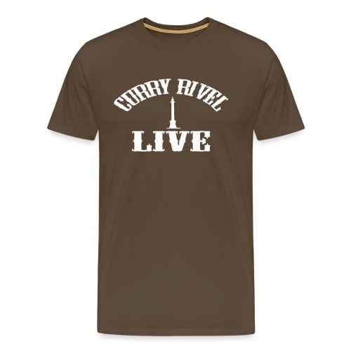 CURRY RIVEL LIVE LOGO WHITE - Men's Premium T-Shirt