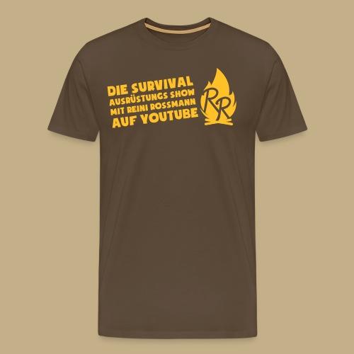 Reini Rossmann Survival Show - Männer Premium T-Shirt