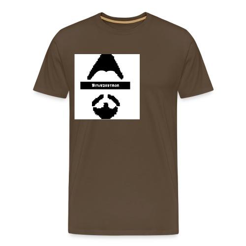 Biturzartmon Logo schwarz/weiss asiatisch - Männer Premium T-Shirt