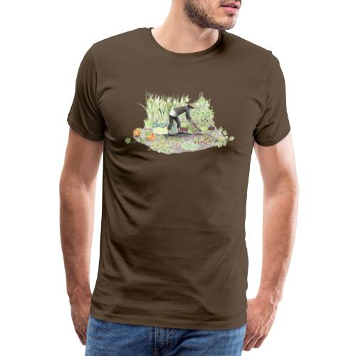 Auf dem Acker – Handgezeichnet - Männer Premium T-Shirt
