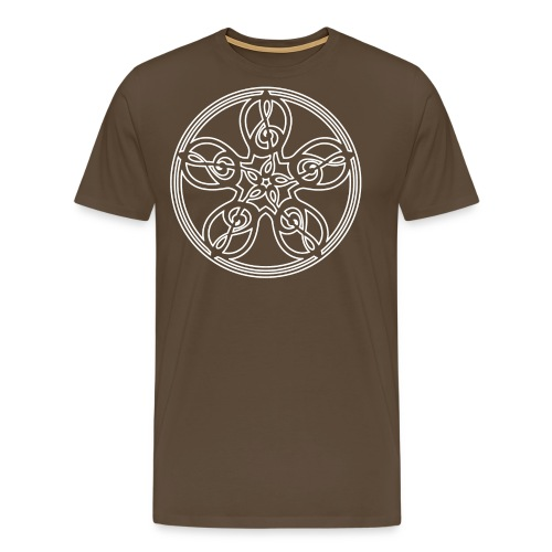 CELTIC CLEF MANDALA (white outline) - Men's Premium T-Shirt